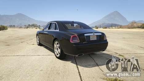 GTA 5 Rolls Royce Ghost 2014 rear left side view