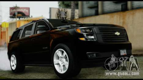 Chevrolet Tahoe 2015 for GTA San Andreas right view