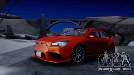 Mitsubishi Lancer Evolution X Tunable New PJ for GTA San Andreas inner view