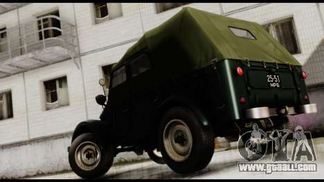 GAZ-69A for GTA San Andreas left view