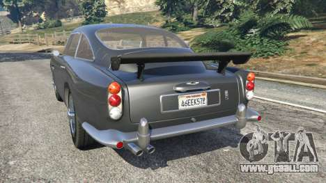 GTA 5 Aston Martin DB5 Vantage 1965 rear left side view