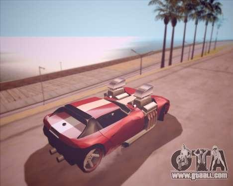 Banshee Twin Mill III Hot Wheels v1.0 for GTA San Andreas right view