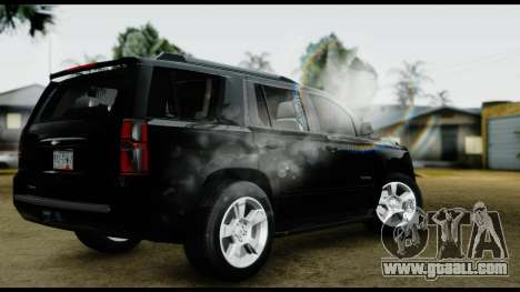 Chevrolet Tahoe 2015 for GTA San Andreas left view