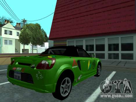 Toyota MR-S Tunable for GTA San Andreas right view