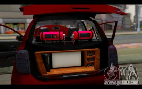 Nissan March 2011 Hellaflush for GTA San Andreas interior