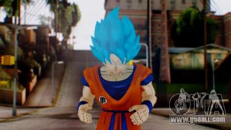 Goku SSJ God Blue (SSGSS) for GTA San Andreas