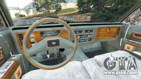 GTA 5 Cadillac Fleetwood Brougham 1985 [rusty] rear right side view