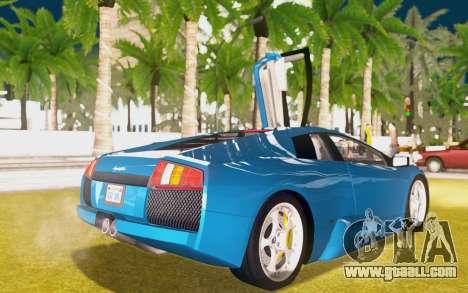 Lamborghini Murcielago 2005 for GTA San Andreas upper view
