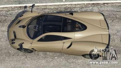 GTA 5 Pagani Huayra 2013 v1.1 [black rims] back view
