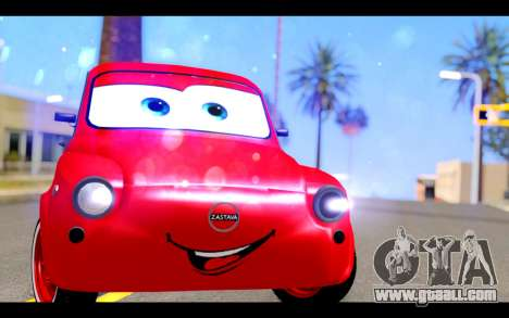 Zastava 750 - The Cars Movie for GTA San Andreas back view