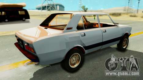 Fiat 132 for GTA San Andreas back left view