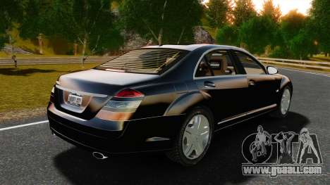 Mercedes-Benz S600L 2008 for GTA 4 back left view