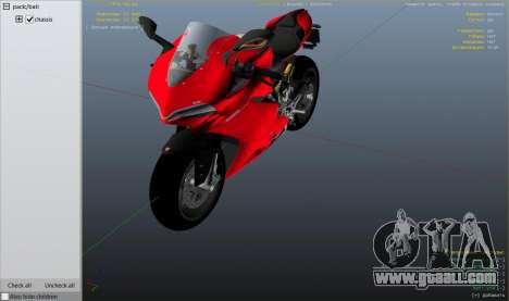 GTA 5 Ducati 1299 Panigale S v1.1 right side view