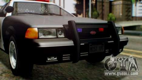 GTA 5 Police LV for GTA San Andreas inner view