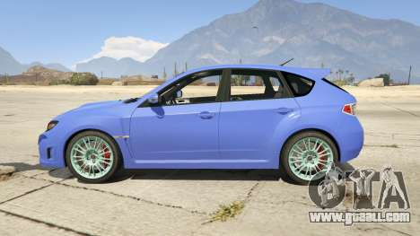GTA 5 Subaru Impreza WRX STI 1.1 left side view