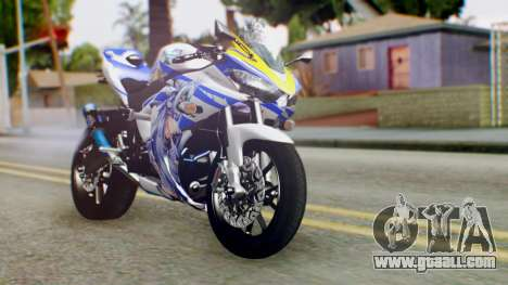 Yamaha YZF R-25 Kos-Mos Xenosaga Itasha 2014 for GTA San Andreas