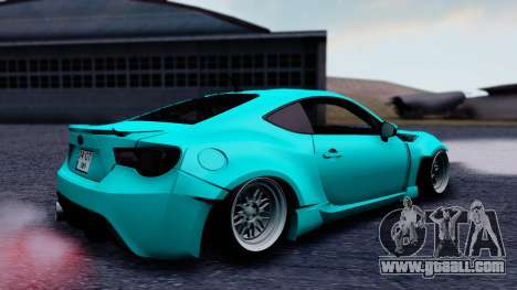 Toyota GT86 Rocket Bunny for GTA San Andreas back left view