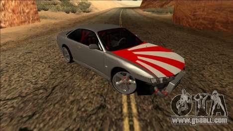 Nissan Silvia S14 Drift JDM for GTA San Andreas inner view