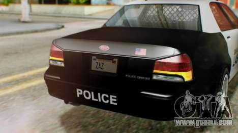 GTA 5 Police LV for GTA San Andreas back view