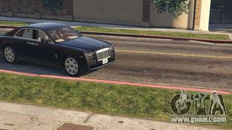 GTA 5 Rolls Royce Ghost 2014 back view