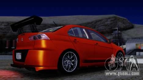 Mitsubishi Lancer Evolution X Tunable New PJ for GTA San Andreas side view