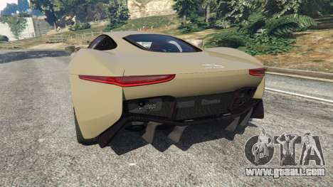 GTA 5 Jaguar C-X75 rear left side view