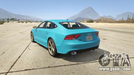 GTA 5 Audi RS7 rear left side view