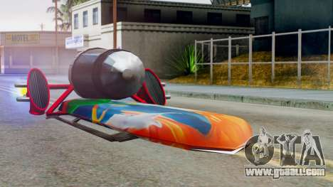 Flying Hovercraft New Skin for GTA San Andreas back left view