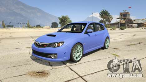Subaru Impreza WRX STI 1.1 for GTA 5