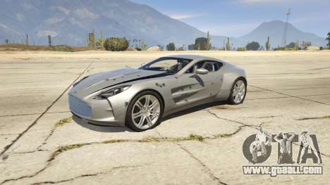 GTA 5 2012 Aston Martin One-77 v1.0 front right side view