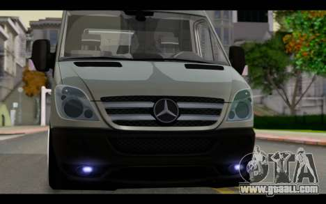 Mercedes-Benz Sprinter for GTA San Andreas back view