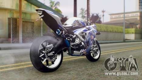 Yamaha YZF R-25 Kos-Mos Xenosaga Itasha 2014 for GTA San Andreas left view