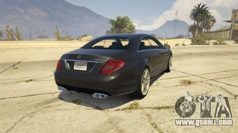 GTA 5 2010 CL65 Mercedes-Benz AMG rear left side view
