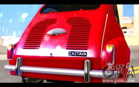 Zastava 750 - The Cars Movie for GTA San Andreas inner view