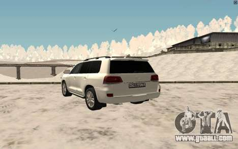 Toyota Land Cruiser 200 2016 for GTA San Andreas back left view