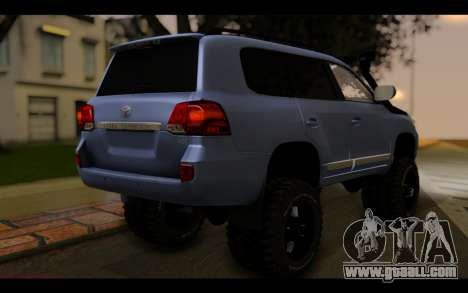 Toyota Land Cruiser 200 2013 Off Road for GTA San Andreas left view