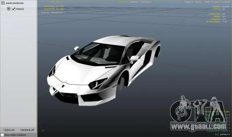 GTA 5 Lamborghini Aventador LP700-4 v.2.2 wheel