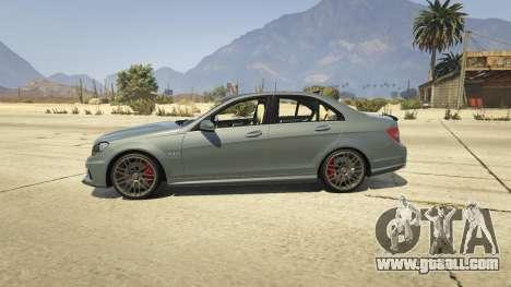 GTA 5 Mercedes-Benz C63 AMG v2 left side view