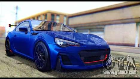 Subaru BRZ STi Concept 2016 for GTA San Andreas back left view