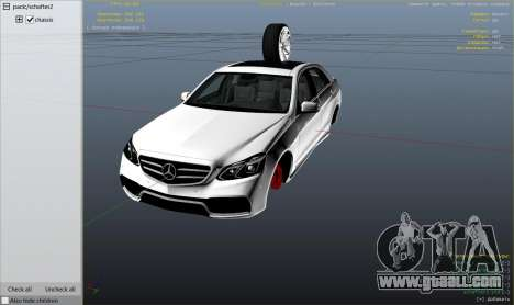 GTA 5 Mercedes-Benz E63 AMG v2.1 right side view
