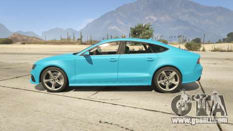 GTA 5 Audi RS7 left side view