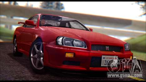 Nissan Skyline R-34 GT-R V-spec 1999 No Dirt for GTA San Andreas
