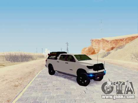 Toyota Tundra 2012 Semi-Off-road for GTA San Andreas left view