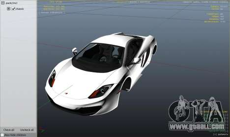 GTA 5 2011 McLaren MP4 12C right side view
