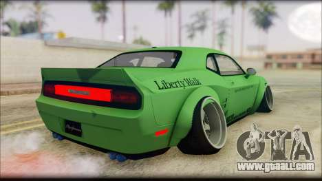 Dodge Challenger LB Perfomance for GTA San Andreas left view