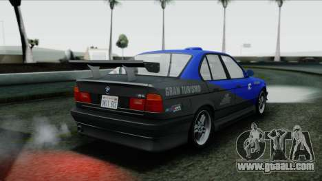 BMW M5 E34 US-spec 1994 (Full Tunable) for GTA San Andreas upper view