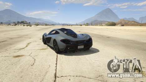 GTA 5 2014 McLaren P1 v2.0 rear left side view