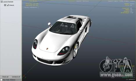 GTA 5 Porsche Carrera GT 2.0 right side view