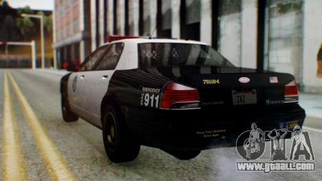 GTA 5 Vapid Stanier II Police for GTA San Andreas left view