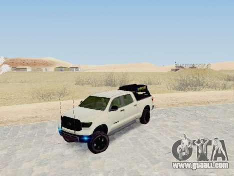 Toyota Tundra 2012 Semi-Off-road for GTA San Andreas